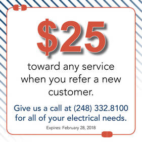 $25 toward any service when you refer a customer