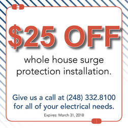 $25 off whole house surge protection