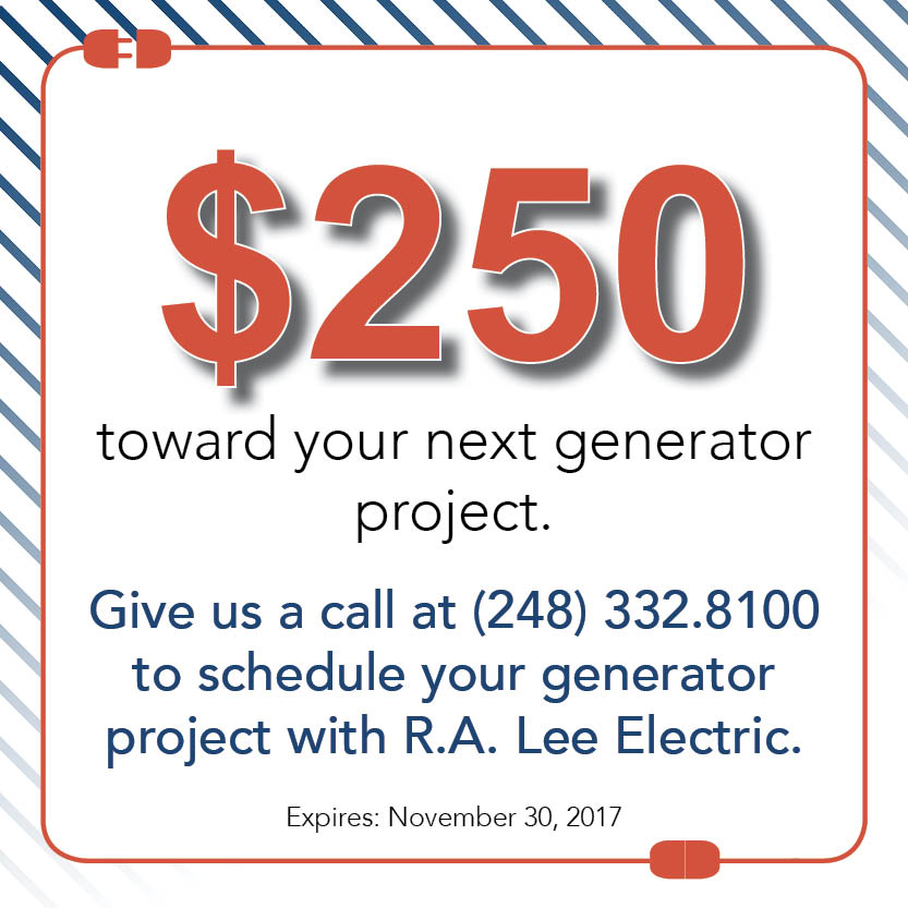 $250 toward your next generator project